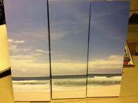 Canvas beach picture