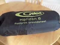 Gelert Horizon 6 Footprint Groundsheet, perfect condition in its own carry bag