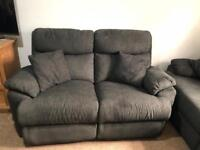 Electric two seater and three reclining sofas