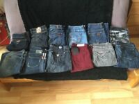 Job Lot Designer Jeans 12 pair Victoria Beckham rock and republic seven of mankind diesel hudsons