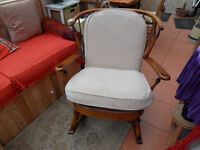 ercol rocking chair with plumb made to measure covers.