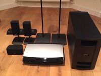 BOSE LIFESTYLE 28 SURROUND SOUND SYSTEM, complete with 10 speakers, stands and DVD player