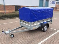 Car trailer FARO TRACTUS 8.6ft x 4.1ft Single Axle 750kg top Cover canopy 80cm