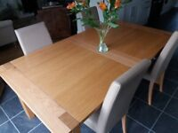 Dining Table - M&S Sonoma Wooden Extending Table seats 4-8.
