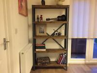 Unique hand made industrial style bookcase - shelf unit project - ANY SIZE
