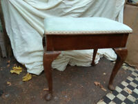 Piano Stool with Cabriole legs