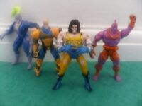 X-MEN IRON MAN vintage action figures Wolverine Professor X rare