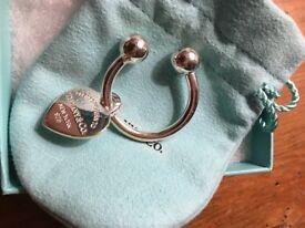 Tiffany & Co Silver Heart Keyring *Brand New