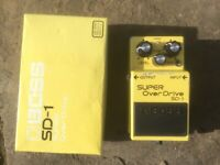 Boss SD-1 Super Overdrive Guitar Pedal with Tubescreamer modification