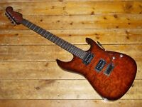 Fender Showmaster Stratocaster 2006 quilted maple top and Seymour Duncan humbuckers