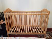 Pine Cot with mattress