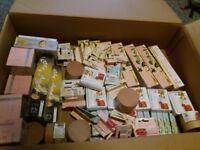 Natural soap bars, lip balms, hair masks and more