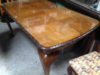 Dining table x4 chairs Chippendale