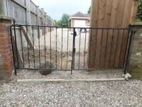 pair of metal garden gates