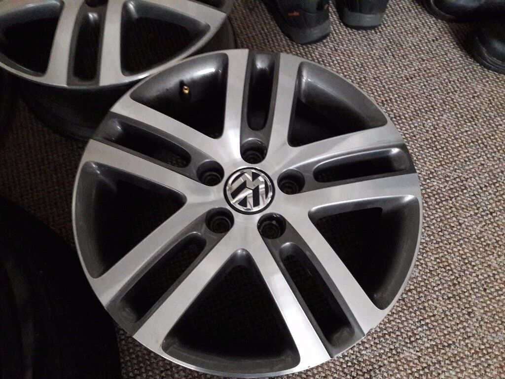 "Nice but damaged 16"" VW Alloys"