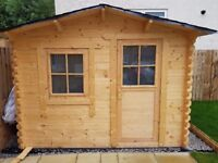 Quality timber garden shed / log cabin