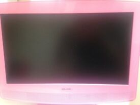 Pink Television with integrated DVD Player