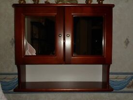Maghogany style bedroom wall display cabinet