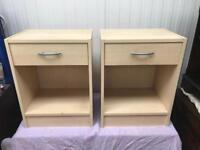 Pair bedside cabinets FREE DELIVERY PLYMOUTH AREA