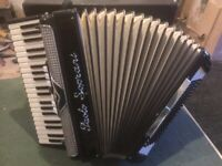 Paolo Soprani 120 bass Piano Accordion/Accordian - Blue badge