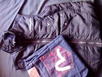 """size L voi jacket and 34"""" jeans"""