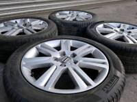 """GENUINE AUDI 17"""" ALLOY WHEELS & TYRES A3 A4 A6 TT VW GOLF CADDY SHARAN GALAXY"""