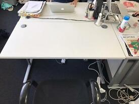 White with silver legs office desks x 10