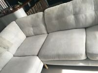 John Lewis Light Grey Corner Sofa. SOLD