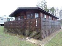 Spacious Log Cabin for sale at Percy Wood Country Park near Alnwick in Northumberland