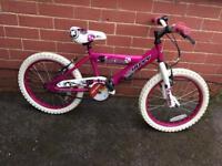 Girls pink 18inch Huffy Bike