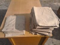 Good quality rustic table cloths x18