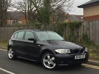 BMW 1 SERIES 1.6 116i ES 5DR * 56 PLATE * BLACK + LOW MILES + HPI CLEAR + PART EXCHANGE CONSIDERED