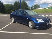 GOOD BARGAIN/--55 PLATE TOYOTA AVENSIS 2.0 DIESEL-- FULL YEAR MOT -- LOW MIL-- MINT CONDITION