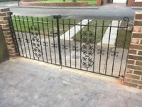 Cast Iron Driveway Gates - Heavy Duty