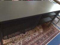 TV Unit, Cabinet, console table with sliding doors, IKEA, NITTORP, dark grey metal