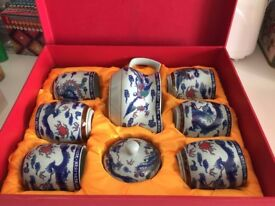 Oriental ceramic tea set