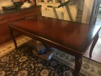 Large Traditional Dining Table - Fits 8 Chairs (Not Included)