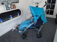 Mamas and papas swirl lie back umberella buggy with matching footmuff & raincover
