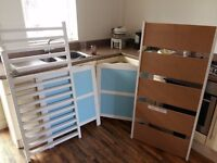 Babies blue cot used a few months