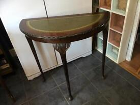 VINTAGE DEMI-LUNE HALL/CONSOLE TABLE - CAN DELIVER