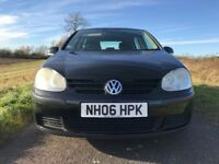 VW Golf FSI 1.6 Petrol Black 4 Door