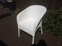 Lloyd Loom Chair Vintage Painted White Retro