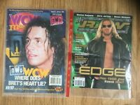 Vintage WCW and WWE magazines/comics