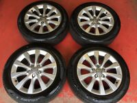 17'' GENUINE AUDI A6 ALLOY WHEELS AND TYRES 5X112 NEW MODEL