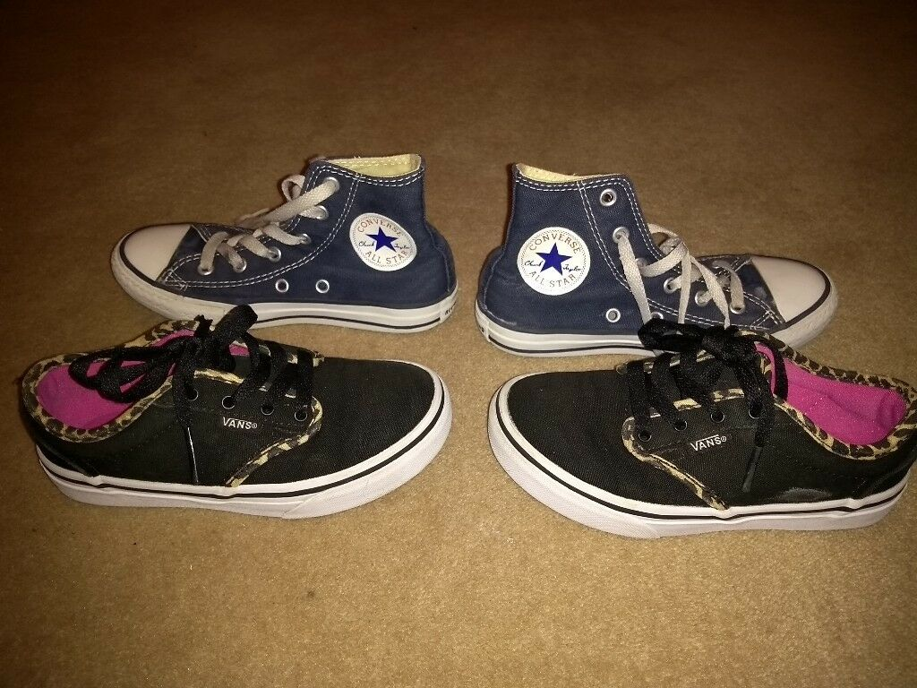 ed6ed495bc7a Kids Vans and Converse footwear - UK Size 12