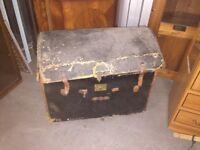 Antique Vintage trunk chest storage toybox