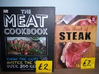 Steak and Meat cookery books.