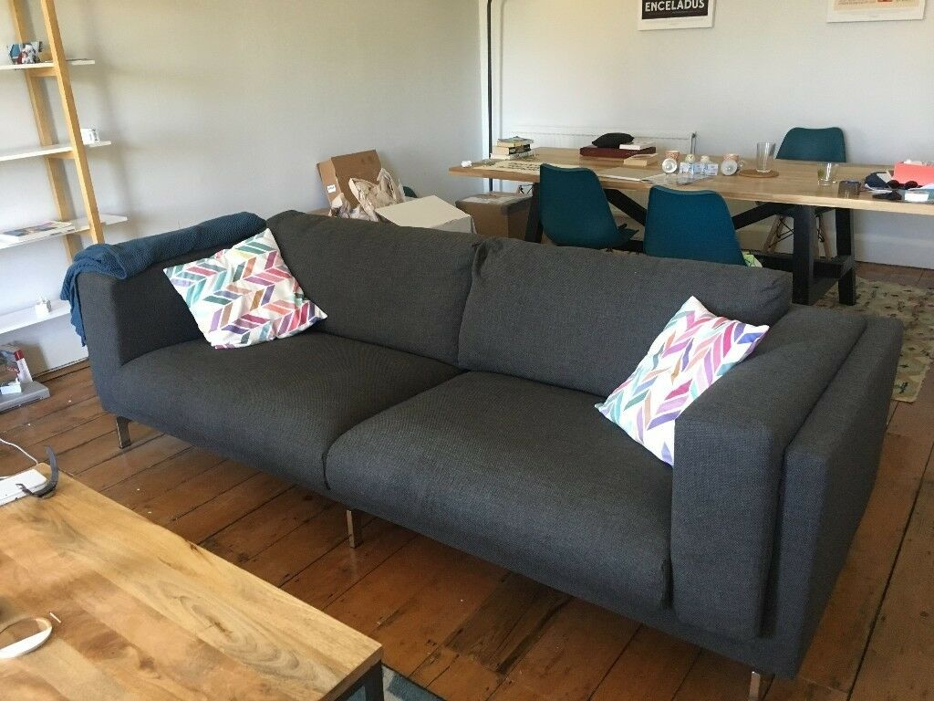 Ikea Nockeby 3 Seat Sofa Dark Grey In Clifton Village