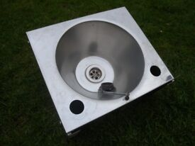 Stainless steel caravan sink