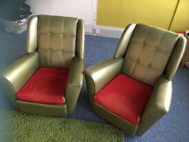 Pair of vintage 1950's armchairs